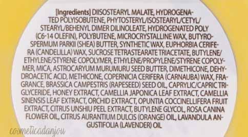 Innisfree Lip Sleeping Mask #Canola Oil Ingredientes