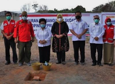 Wagub Kepri Hadiri Peletakan Batu Pertama Gudang PMI