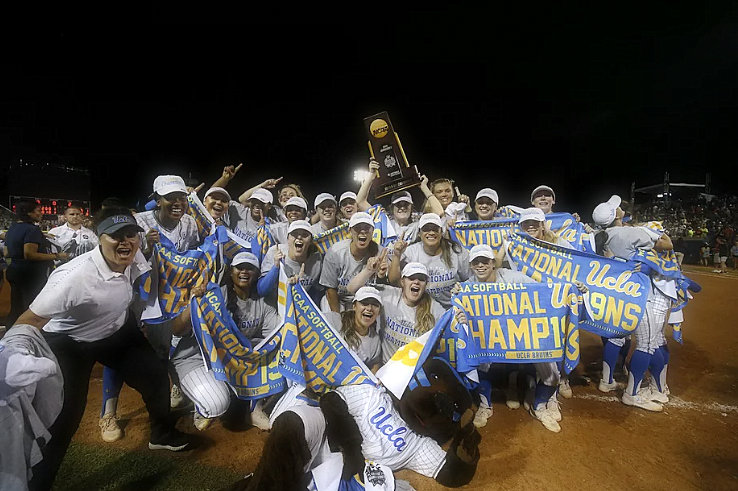 The UCLA Bruins win the 118th NCAA title in a one-way, 5-4