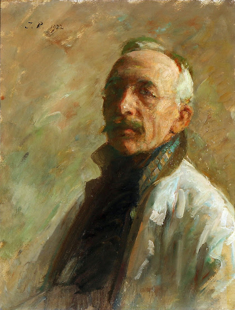Julius Paulsen, Self Portrait, Portraits of Painters, Fine arts, Portraits of painters blog, Paintings of Julius Paulsen, Painter Julius Paulsen