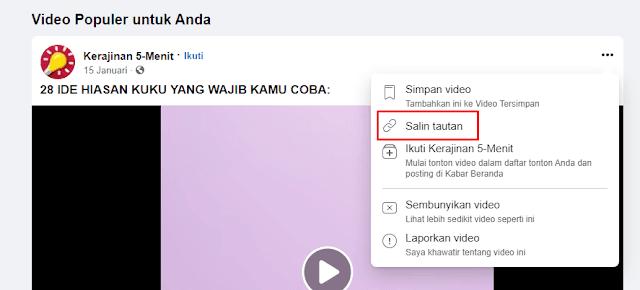 Cara download video di facebook 100% work
