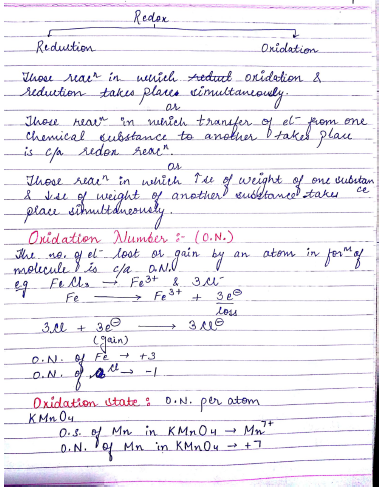 Chemistry Chapterwise Notes (Redox Reaction) : For JEE and NEET Exam PDF Book