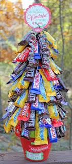albero di natale con dolciumi fai da te