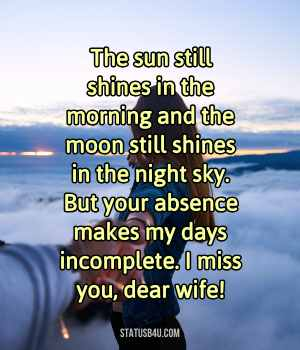 Miss You Status For Wife