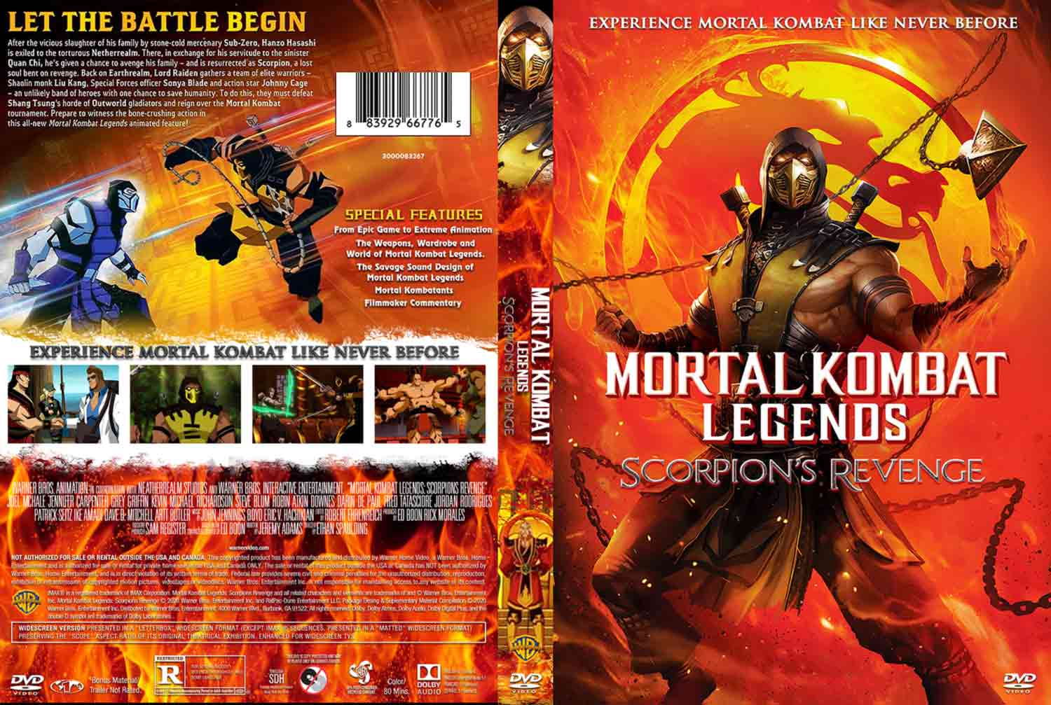 Mortal Kombat Legends Scorpions Revenge Dvd Cover Cover Addict Free Dvd Bluray Covers And Movie Posters