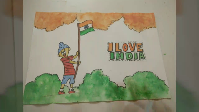 Indian Flag Drawing for School Children