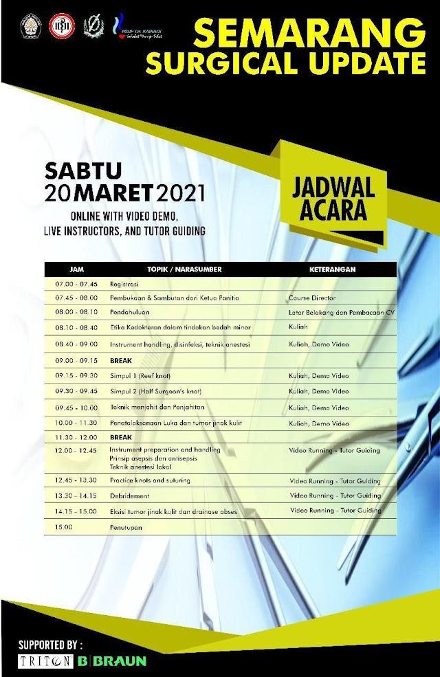 """Semarang Surgical Update """"Metode daring dengan bimbingan instruktur tutor secara live"""""""