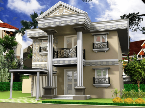 Desain Rumah Minimalis Idaman 2 Lantai Type 45