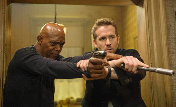 Michael Bryce (Ryan Reynolds) and Darius Kincaid (Samuel L. Jackson) had a hard time getting along in THE HITMAN'S BODYGUARD (2017)