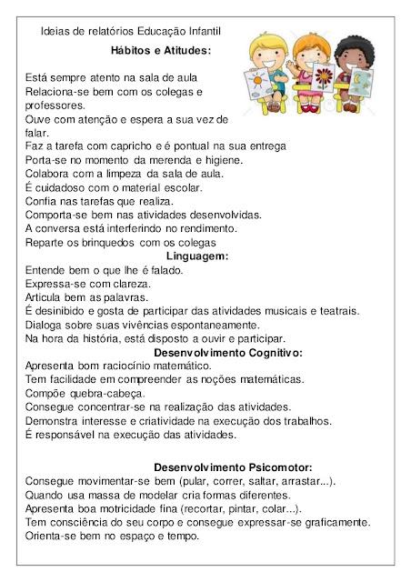 Relatorio Do Estagio Educação Infantil Redação November