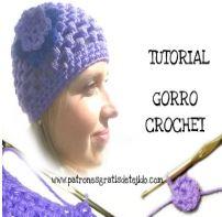 Gorro crochet para mujer paso a paso