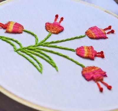 Hướng dẫn thêu hoa tulip - Hình6