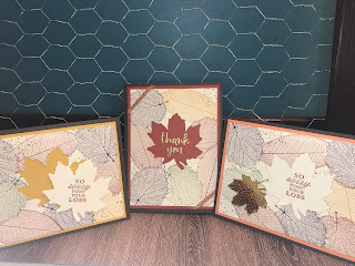 Layered Leaves Cards