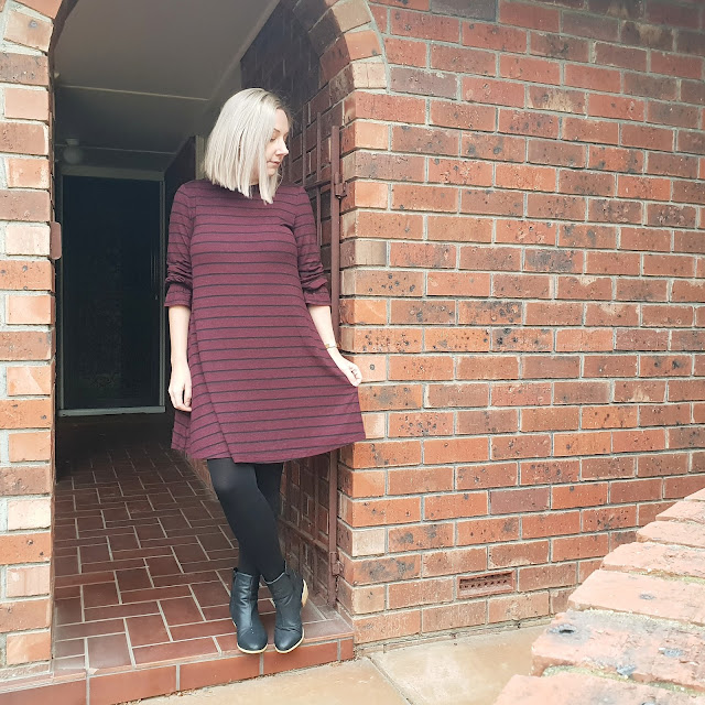 Kmart striped knit dress | Almost Posh