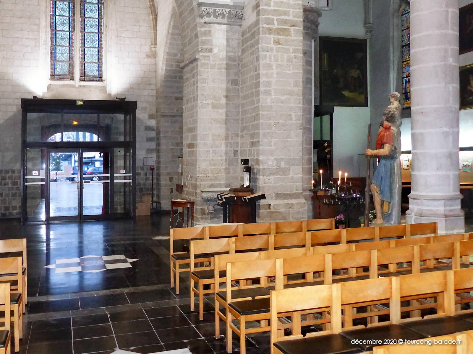 Narthex église Saint Christophe, Tourcoing 2020