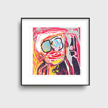 art prints, abstract art prints, one man and his dog, buy art prints, contemporary art prints, gallery art prints, original art prints, Sam Freek,
