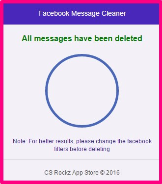 how to delete all facebook messages at once 2017