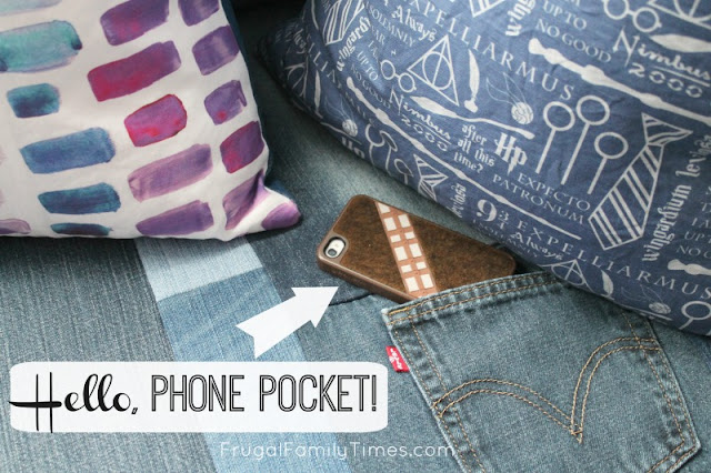 pocket in diy window seat cushion