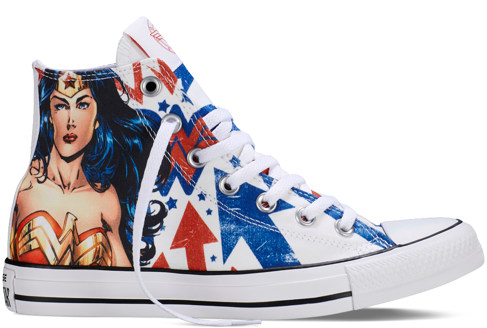 fb41047712df The Converse Chuck Taylor All Star Wonder Woman sneaker features amazing  artwork from the Co-Publisher of DC Entertainment