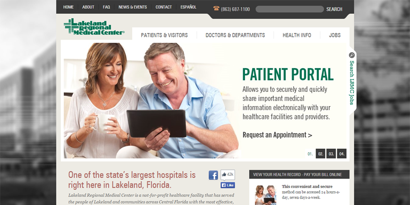 Lakeland Regional Medical Center homepage