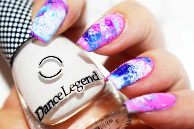 Dance Legend Spot it White Fluid Nails