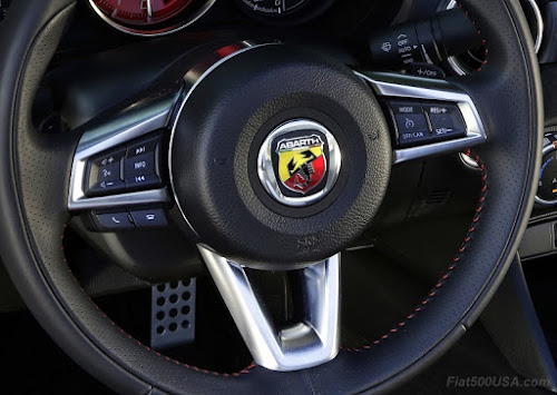 Abarth Spider Steering Wheel Logo