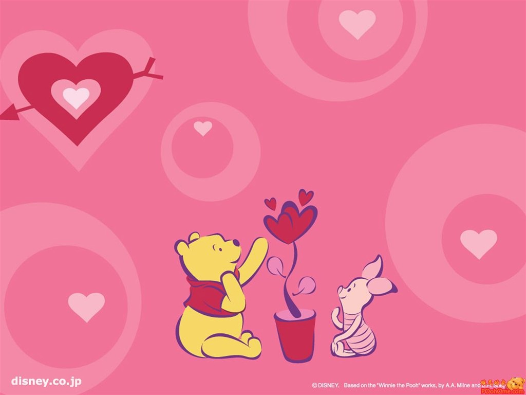 3d Wallpapers Friends Forever Let S Push Game 小遊戲天堂 可愛圖案 Winnie The Pooh Wallpaper 3