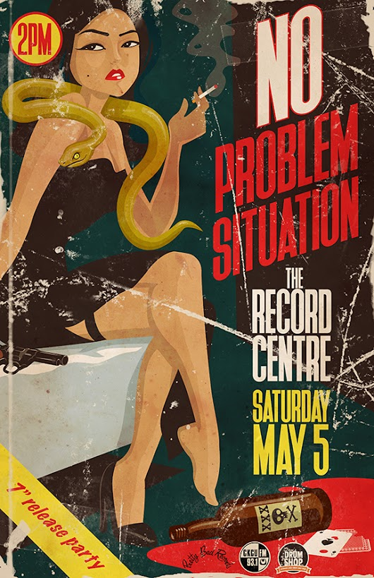 No problem Situation @ The Record Centre (2018) | Ottawa Gig Posters
