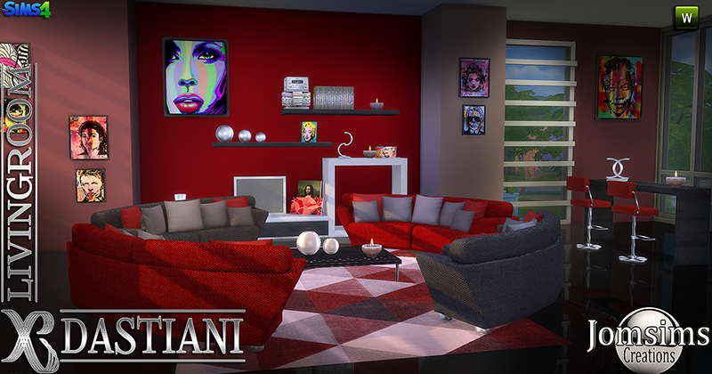 Jomsimscreations blog new dastiani living room click for Living room zones