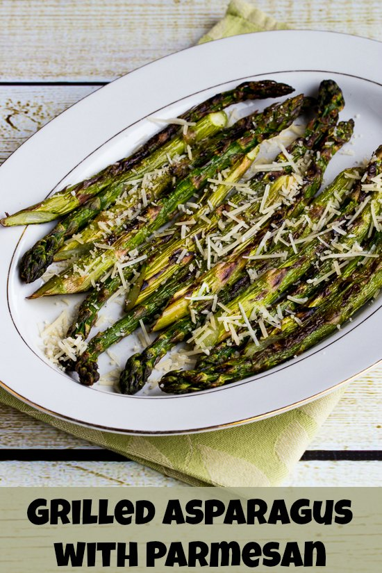 Grilled Asparagus with Parmesan (Low-Carb, Gluten-Free) found on KalynsKitchen.com