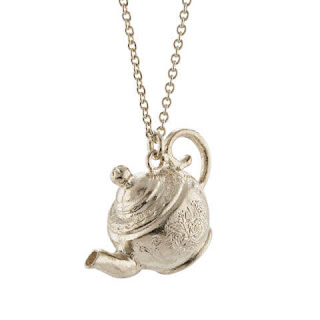 Engraved Mrs Pott's Teapot Necklace Alex Monroe X Disney Jewellery
