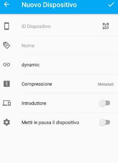 Sincronizzazione Android