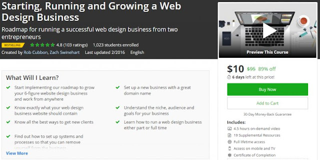 [89% Off] Starting, Running and Growing a Web Design Business|Worth 95$