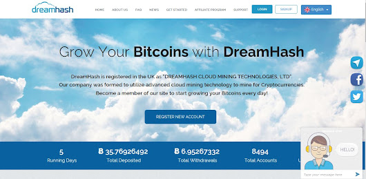 DreamHash.com Situs cloud mining baru 2017! the next [auroramine] ~ oopz-shootz