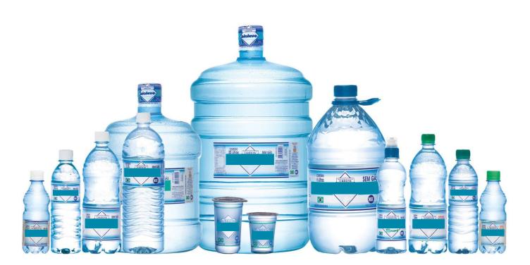 Tipos de embalagens de água mineral