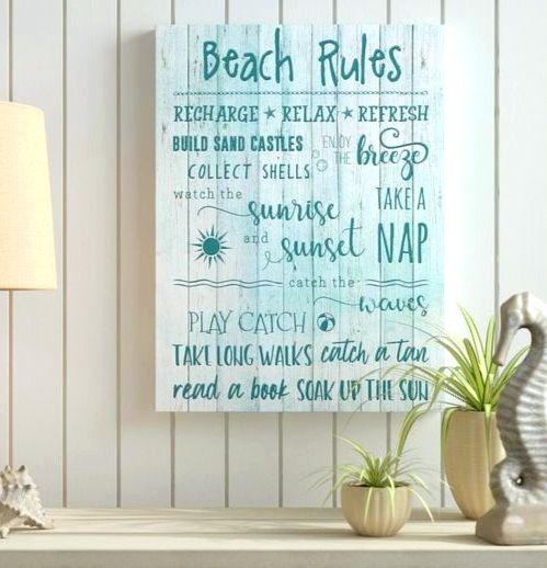 Beach Rules Wall Art Decor