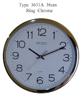Jam Dinding Chrome, Jam Dinding List Chrome / Stainless