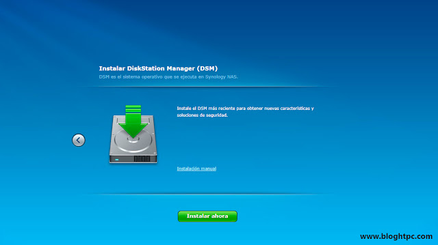 Instalación Synology DiskStation Manager