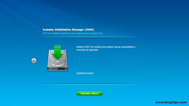 Instalación Synology DiskStation Manager