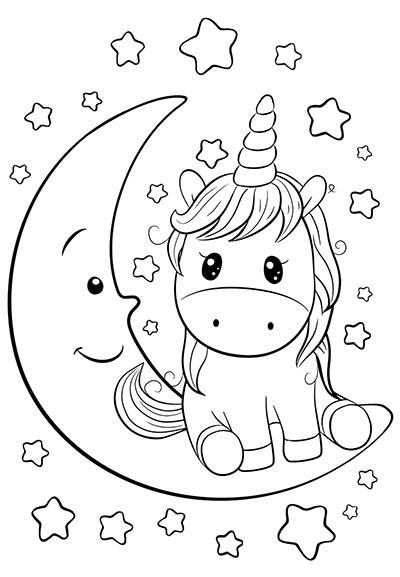 Dibujos de unicornios para colorear 🦄-Imágenes y dibujos