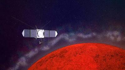 A sonda MAVEN da NASA descobre camadas e fendas na ionosfera de Marte