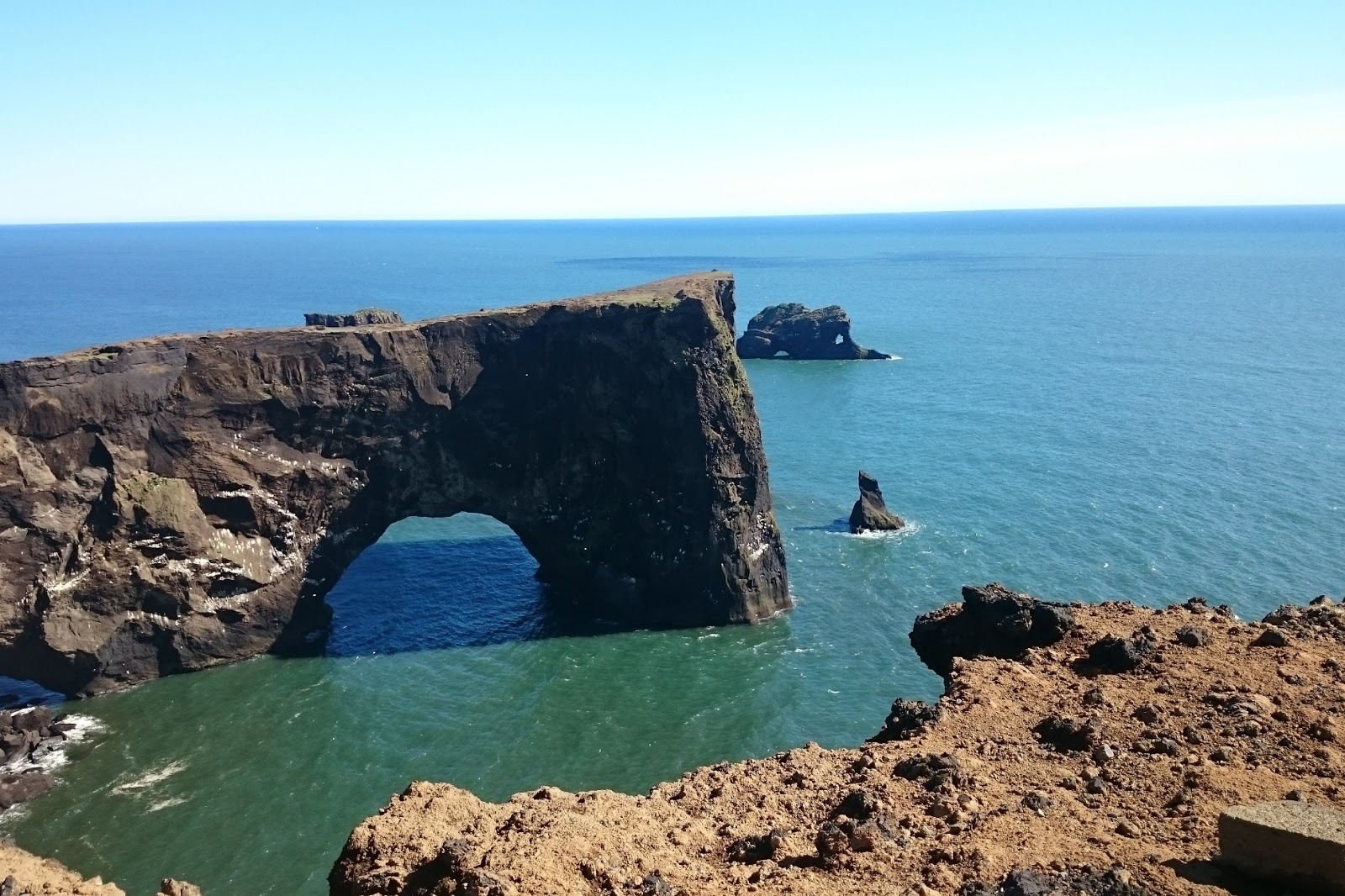 Dyrholaey Islandia, cypel, Islandia, krajobraz, morze, ocean, skały