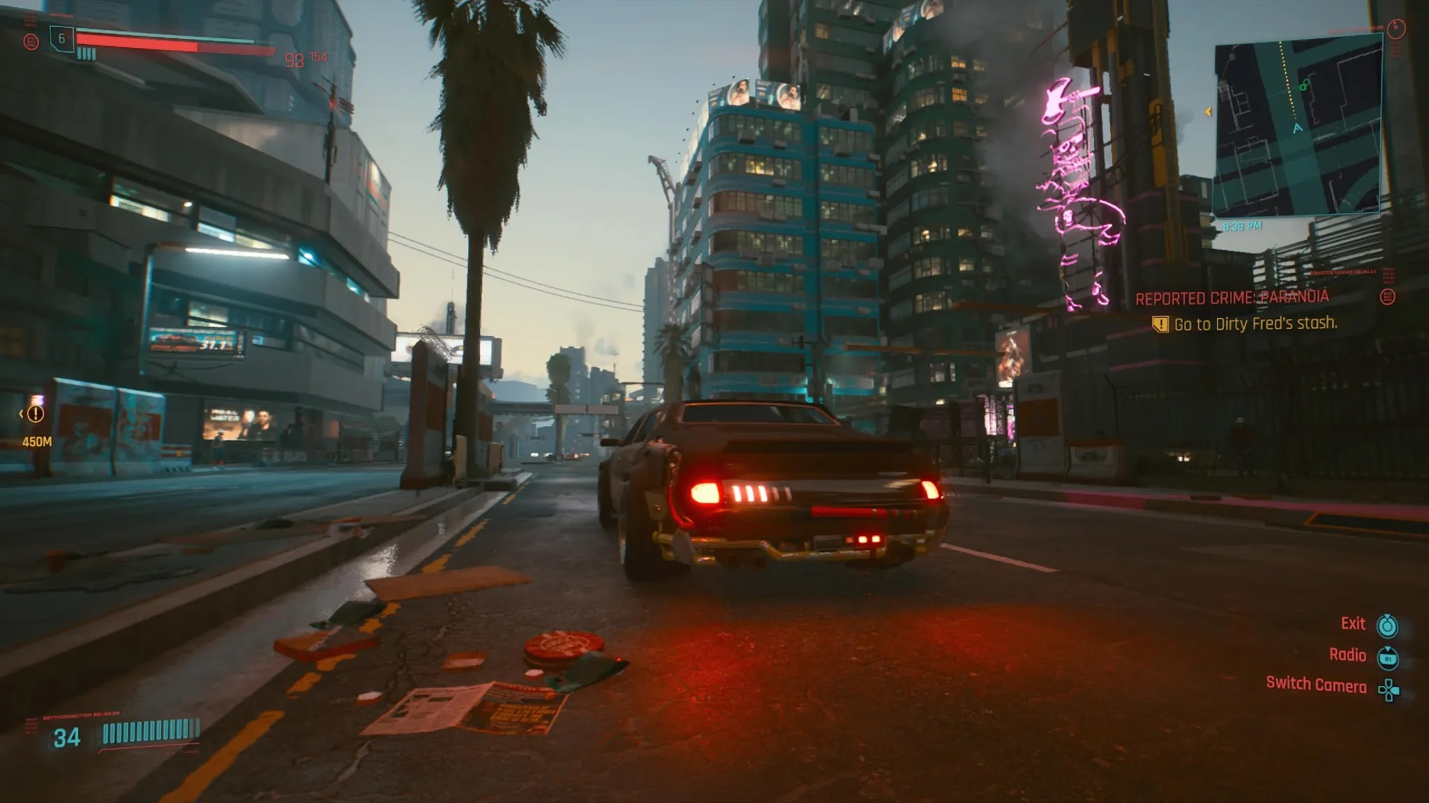 Is the shell going to explode in Cyberpunk 2077