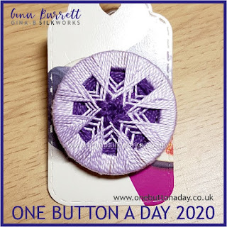 One Button a Day 2020 by Gina Barrett - Day 53: Blossom
