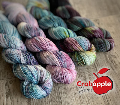 speckled and variegated yarns and logo