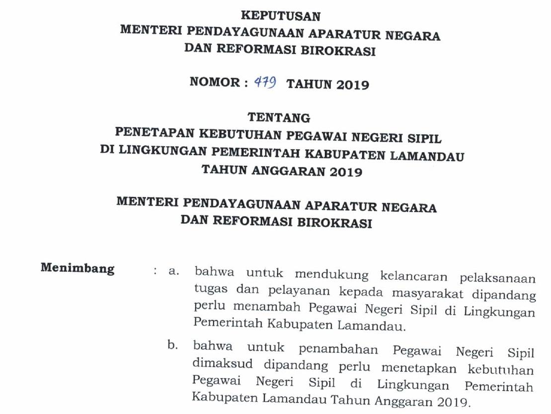 Download Formasi CPNS Kabupaten Seruyan Provinsi Kalimantan Tengah Tahun 2019