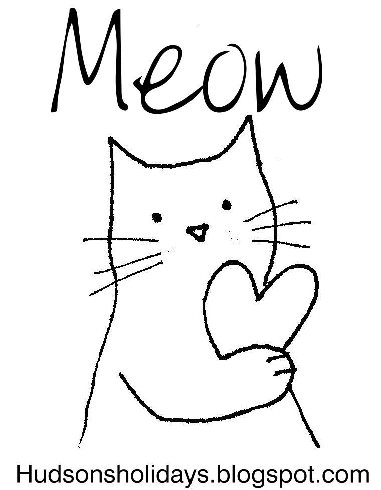 How To Draw A Cat Meowing