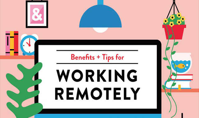 How to work at home #infographic
