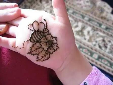 bee mehndi design for kids