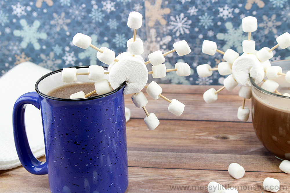 Snowflake Marshmallows.